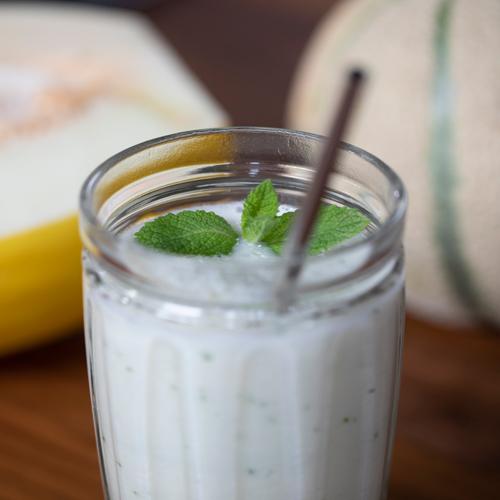 smoothie de melón y yogur