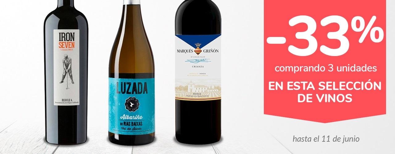 Disfruta de un excelente descuento en la siguiente selección de vinos
