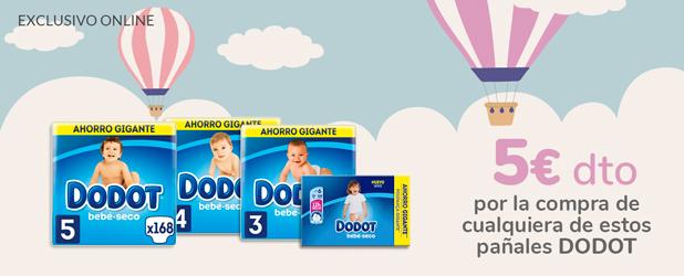 Te regalamos 5€ en tu compra comprando cualquiera de estos pack XXL Dodot