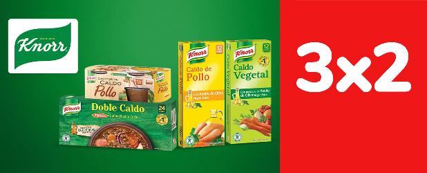 3x2 En todos los productos Knorr