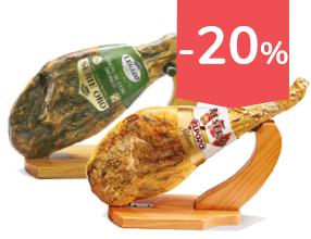 20% de descuento en todos los jamones y paletas en pieza