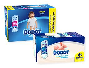 Ahorra 6€ por la compra de cualquiera de estos pañales Dodot -en cupón canjeable-