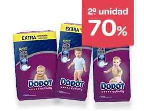 2ª unidad -70% en pañales Dodot Activity Extra o Activity Extra