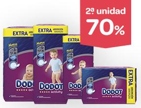 2ª unidad -70% en pañales Dodot Activity Extra