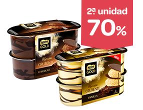 2a unidad -70% en mousse Nestlé Gold