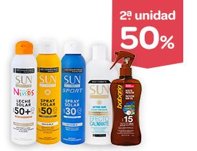 2a unidad -50% en protección solar y after-sun