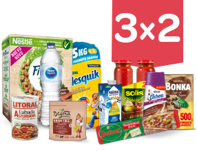 3x2 en una gran selección de productos Nestlé