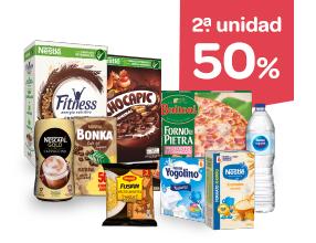 2ª 50% en estos productos Nestlé