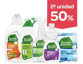 2a unidad -70% en productos Seventh Generation