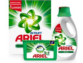 3x2 En TODOS los detergentes ARIEL Original