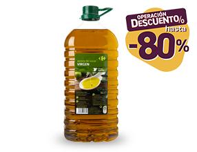 Hasta un 80% de dto con un 10% dto asegurado en Aceite de oliva Virgen Carrefour