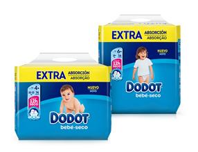3x2 Pañales Dodot Bebe seco Extra Absorcion T3,T4,T5 y T6