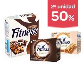 2ª unidad -50% en cereales y barritas Fitness