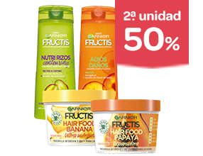 2ª unidad -50% en productos Fructis y otros productos de cuidado del cabello