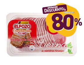 Hasta un 80% de dto con un 10% dto asegurado en escalopín de cerdo El Pozo