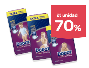 2a unidad -70% Pañales DODOT Activity Extra