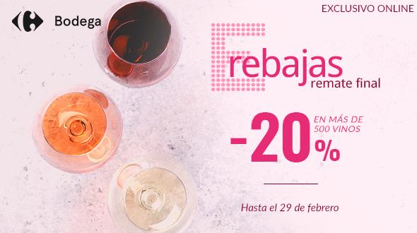 Enamórate del vino en la Bodega Online de Carrefour