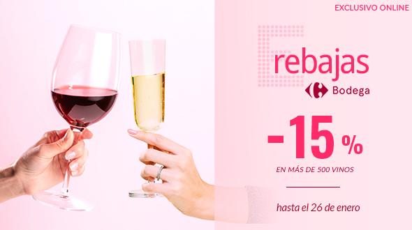 E-Rebajas Bodega: 15% de descuento en más de 500 vinos