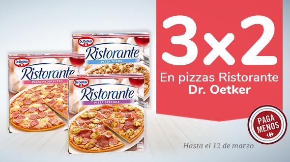 3x2 pizzas Ristorante Dr. Oetker