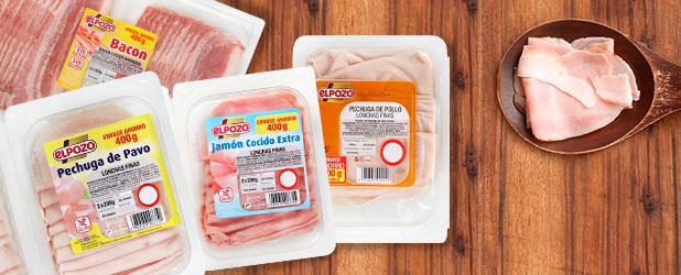 2x1 en jamón cocido extra, pechuga de pollo, pechuga de pavo o reducida en sal o bacon ahumado ELPOZO