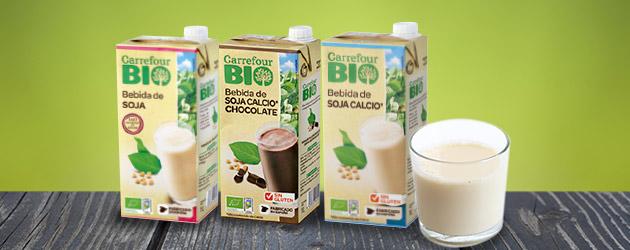 2ª -50% de dto en bebidas de soja chocolate, classic o calcio Carrefour Bio