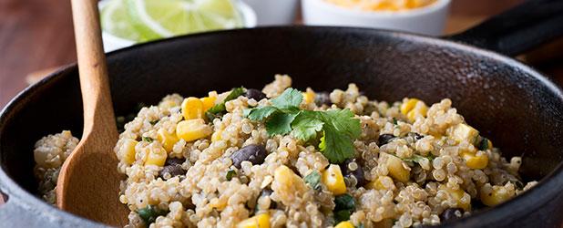 Quinoa con setas shiitake y maíz bio