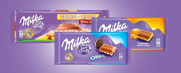 Disfruta de toda la gama de chocolate y chocolatinas Milka